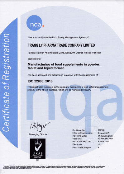 giấy chứng nhận ISO